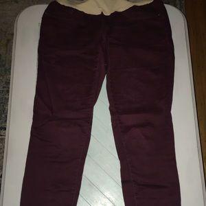 Motherhood Maternity burgundy skinny jeans/pants